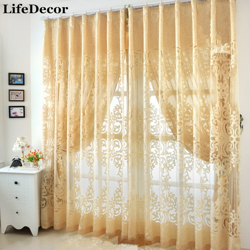 Window Curtain For Living Room/Bedrooms/Hotel Modern Fashion Cutout Curtain  Fabric Balcony Jacquard Luxury Curtains