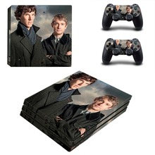 Sherlock Holmes Film PS4 Pro Skin Sticker For Sony PlayStation 4 Console and 2 Controllers PS4 Pro Skin Stickers Decal Vinyl