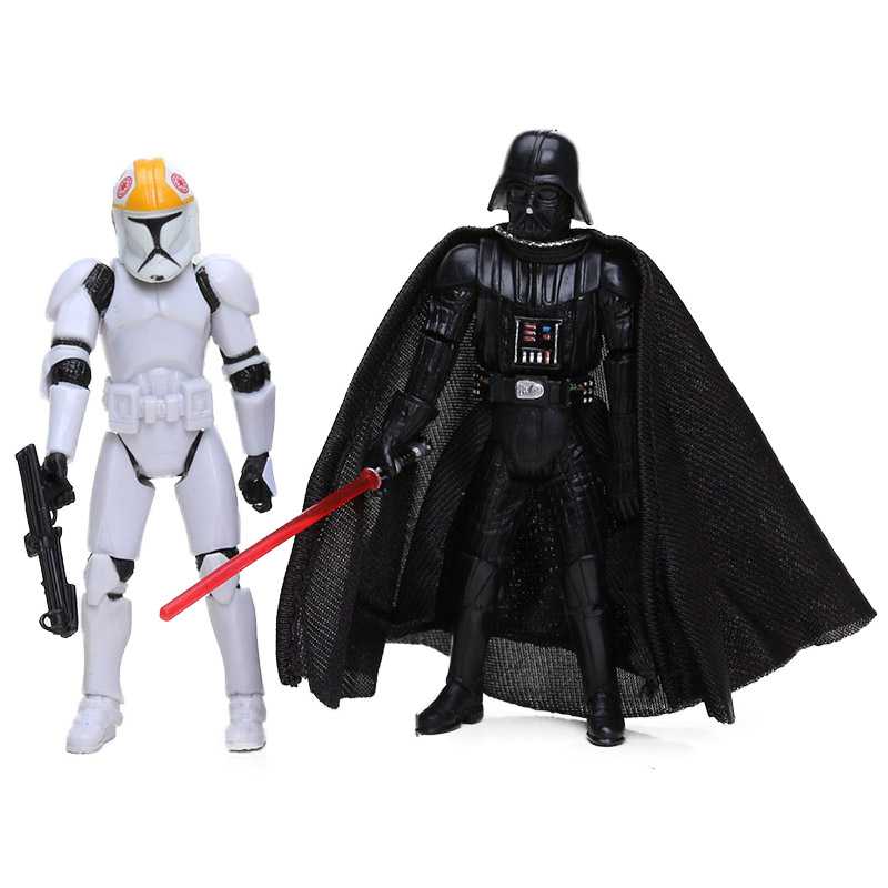 Airborne Clone Trooper Action Figure and Vader