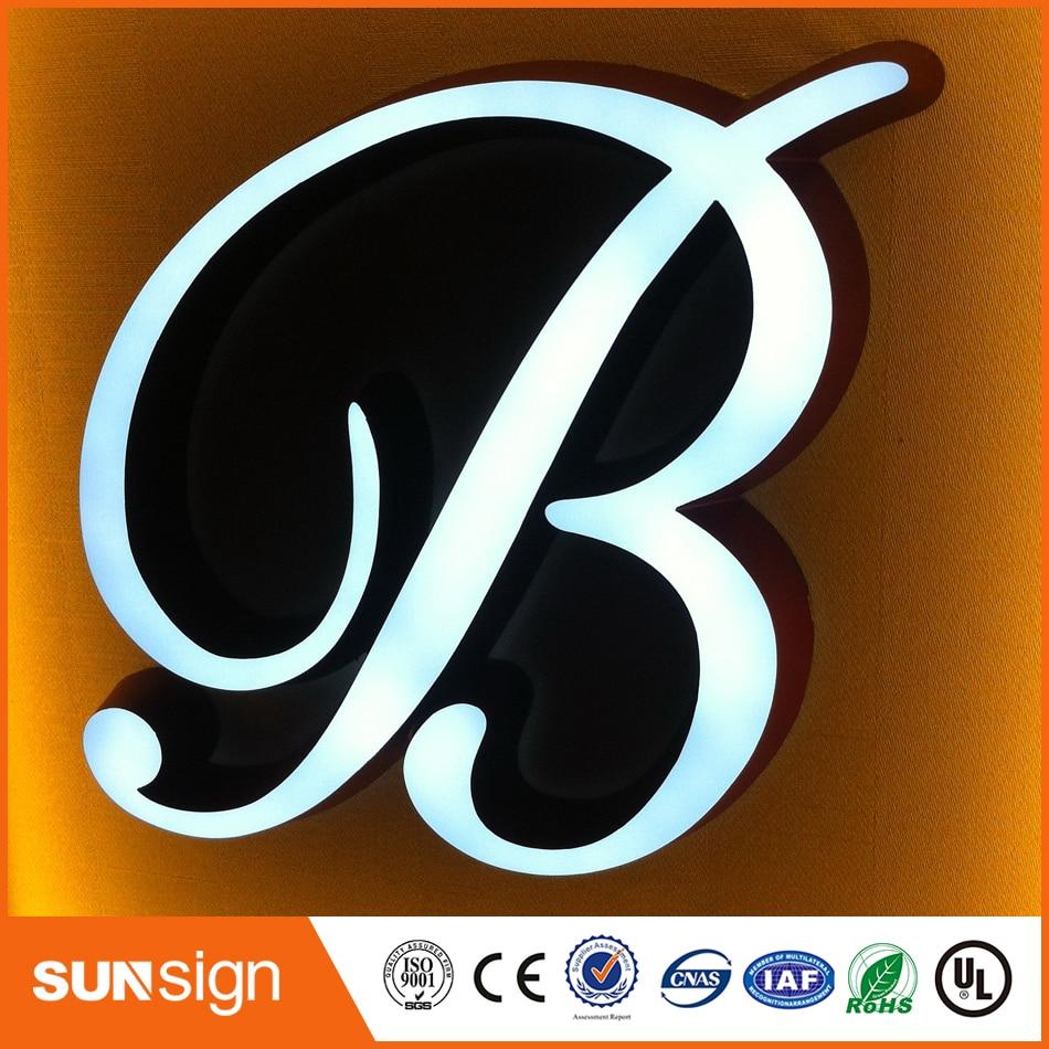 3D Lighting Acrylic Mini LED Channel Letter Light Sign