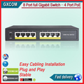 TS8208P 4 portas Gigabit full Switch POE 10/100/1000 M switch ieee802.3af/at