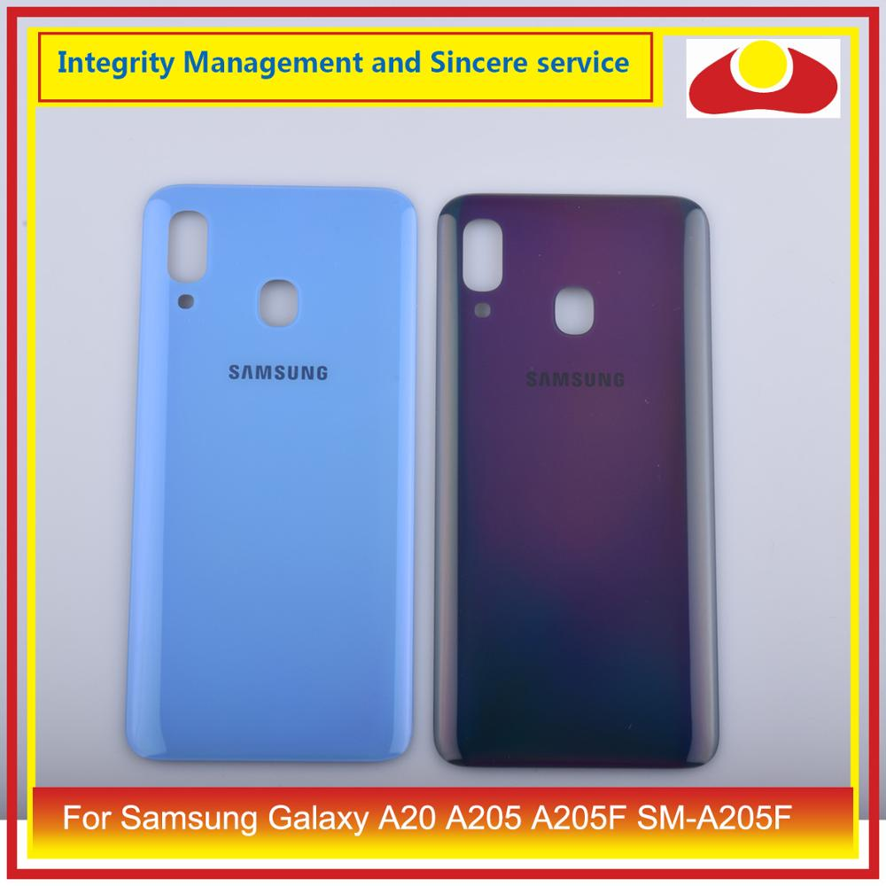 10Pcs/lot For Samsung Galaxy A20 A205 A205F SM-A205F Housing Battery Door Rear Back Glass Cover Case Chassis Shell A20 2019