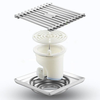 цена на Stainless Steel Floor Drains With Plastic Drainer Core Bathroom Filter Shower Deodorant Floor Drain Toilet Sewer Strainer Set