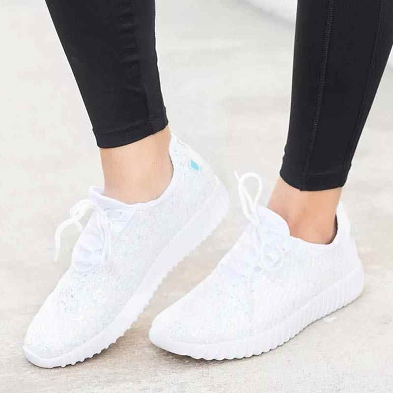 6bdf871b4fe ... Vulcanized Shining Glitter Sneakers Women Fashion Sequin White Sneakers  Summer Sparkly Shoes Black Casual Shoes Zapatillas ...