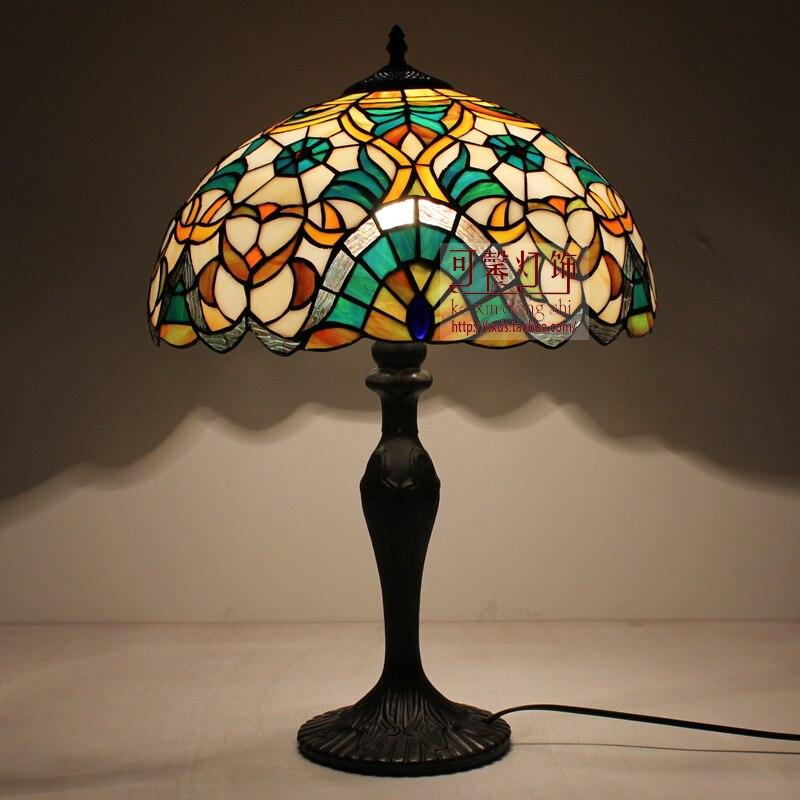 16 дюймов модные Тиффани Настольные лампы для Спальня Лампы для мотоциклов Гостиная ночники