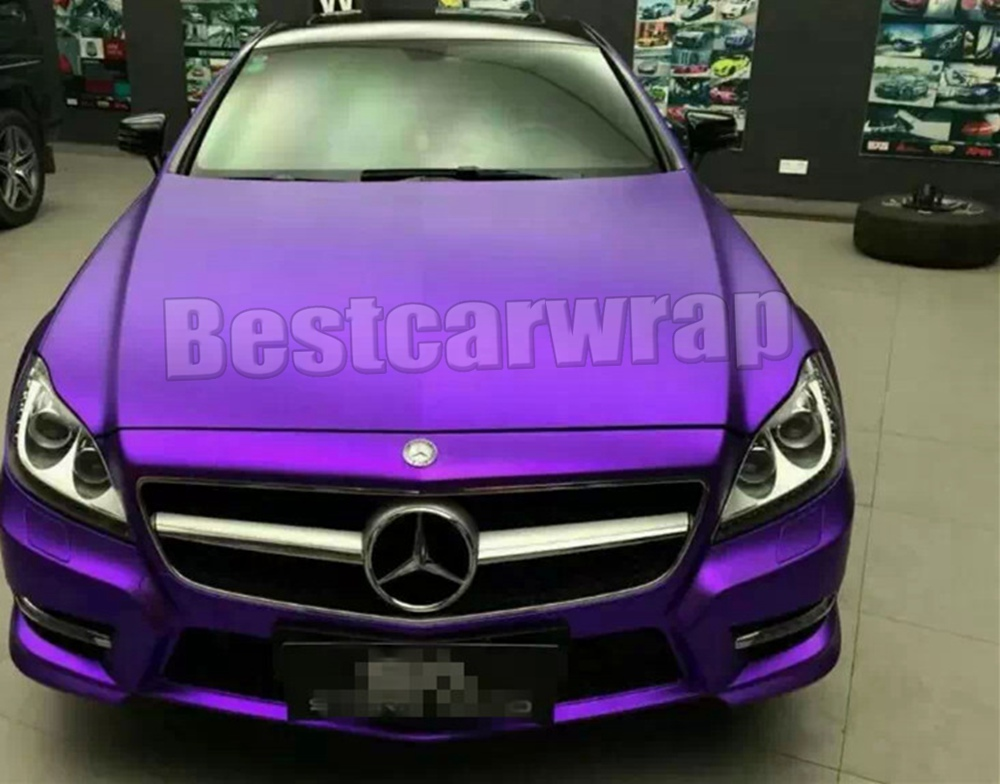 Protwraps Purple Matte Chrome Viny For Car Wrap Styling With Body