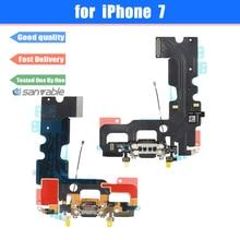 Conector de carga USB con micrófono, antena, Cable flexible, piezas de repuesto, para iPhone 7