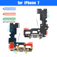 For iPhone 7 Original New Charging Port USB Charger Dock Connector with Microphone Antenna Flex Cable Replacement Parts