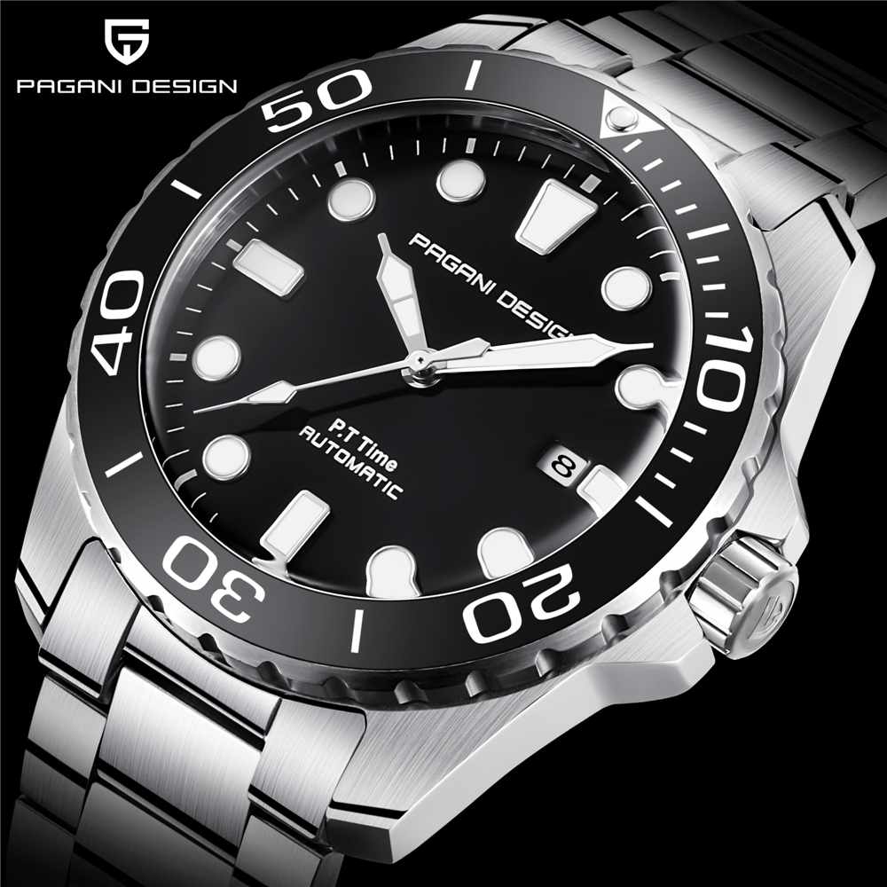 PAGANI CONCEPTION 1632 Hommes Militaire de Sport montres mécaniques Étanche acier inoxydable Top Marque montre de luxe pour homme livraison directe
