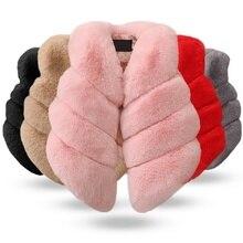 Новая зимняя одежда для маленьких девочек, жилет из искусственного меха, пальто, теплый жилет, Детская куртка без рукавов, верхняя одежда для новорожденных
