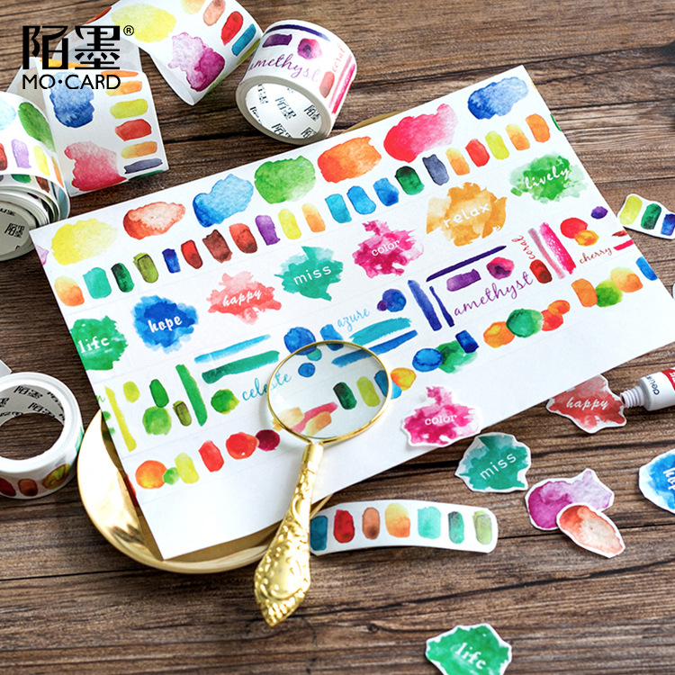 Oil Painting Washi Tape Diy Decoration Scrapbooking Planner Masking Tape Adhesive Tape Stationery