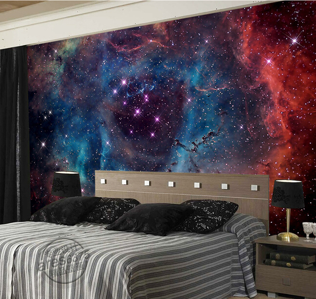Buy custom dream murals the universe for Ceiling mural in a smoker s lounge
