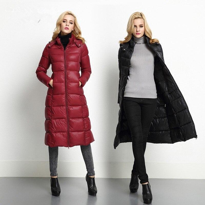 2016 осень и зима тонкий ватные куртки женские длинные дизайн более-колено плюс размер женская верхняя одежда хлопок-мягкий
