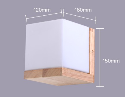 Applique murale moderne en bois minimaliste chambre chevet