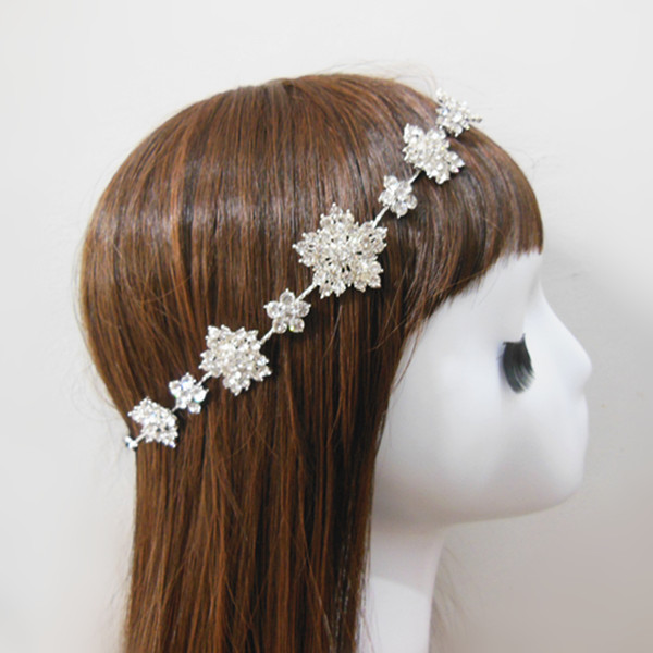 1pcs Snowflake Jewelry Bridal Tiara Headband Hairband Wedding Party Clean  Rhinestone 7b77e2bac2f
