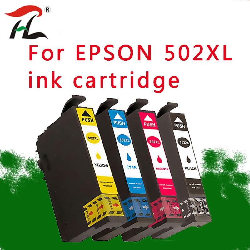 4PK 502XL For Epson T502XL ink cartridge EXPRESION HOME XP-5100 XP-5105 WF2860 WF2865 color printer tank 502-I