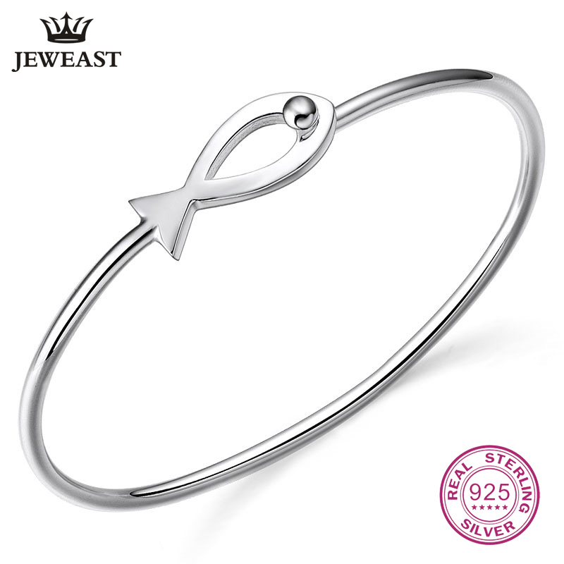925 Sterling Silver Small Fish Shape Bracelet Smooth Simple Fashion Student Bangle 2017 New Trendy Hot Selling Jewelry 925 Sterling Silver Small Fish Shape Bracelet Smooth Simple Fashion Student Bangle 2017 New Trendy Hot Selling Jewelry