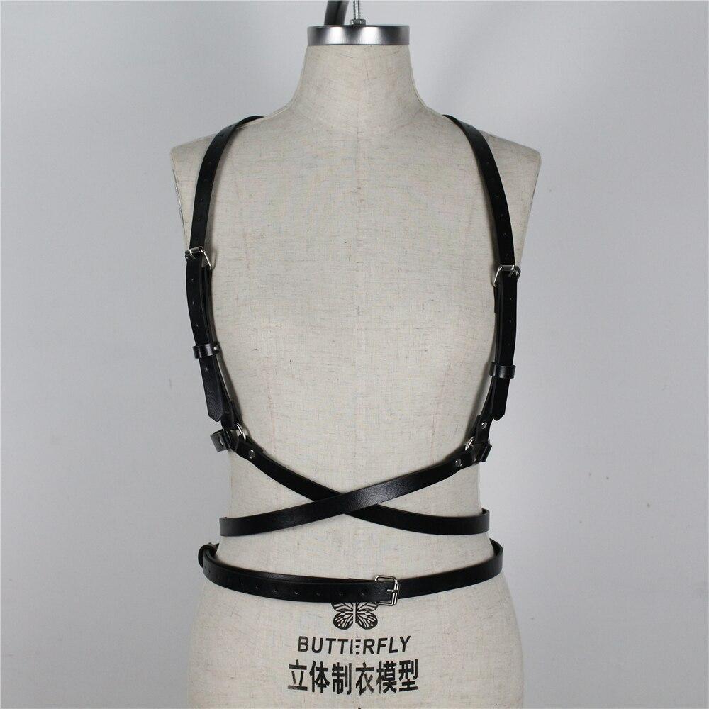 UYEE Trendy Leather Harness Sexy Lingerie Belt Adjustable Leather Garter Women Straps For Female Erotic Waist Body Suspenders 4