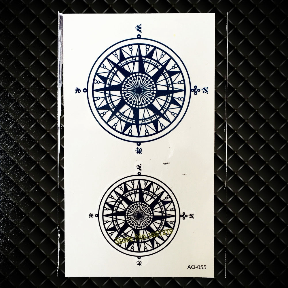 Detail Feedback Questions About Hot Black Fake Compass Tattoo