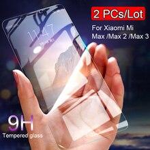 กระจกนิรภัย 2 ชิ้นสำหรับXiaomi Mi Max 3 แก้วสำหรับXiaomi Mi Max 2 ฟิล์มป้องกันหน้าจอสำหรับXiaomi mi Max 2 3 ป้องกัน