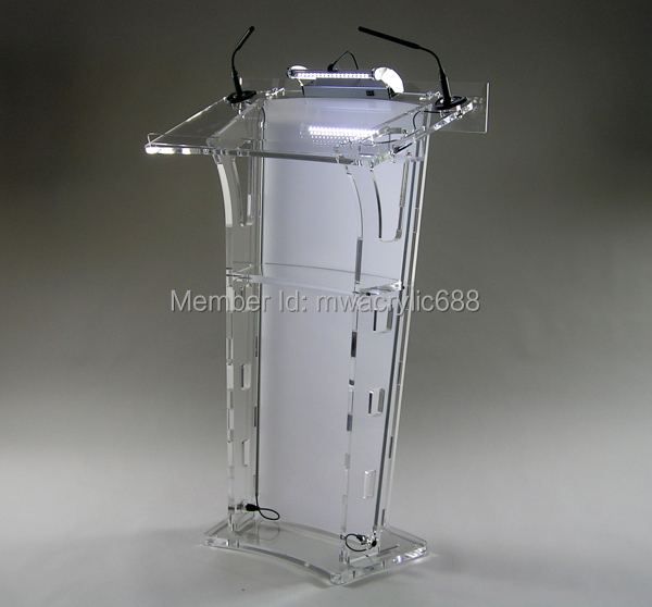Free Shipping HoYodeMonterrey Price Reasonable Acrylic Podium Pulpit Lectern free shipping high quality price reasonable cleanacrylic podium pulpit lectern podium