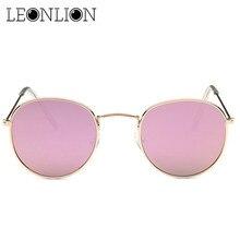 LeonLion Retro Vintage Alloy Frame Sunglasses Women Brand Design Points Sunglasses Reflective Mirror Polarized Men Sun glasses