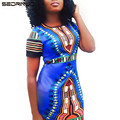 2016 Новое Лето Женщины Винтаж Национальный Ветер Классический Печати Dress Sexy мода бинты bodycon Мини 4 Цвета Платья Vestidos