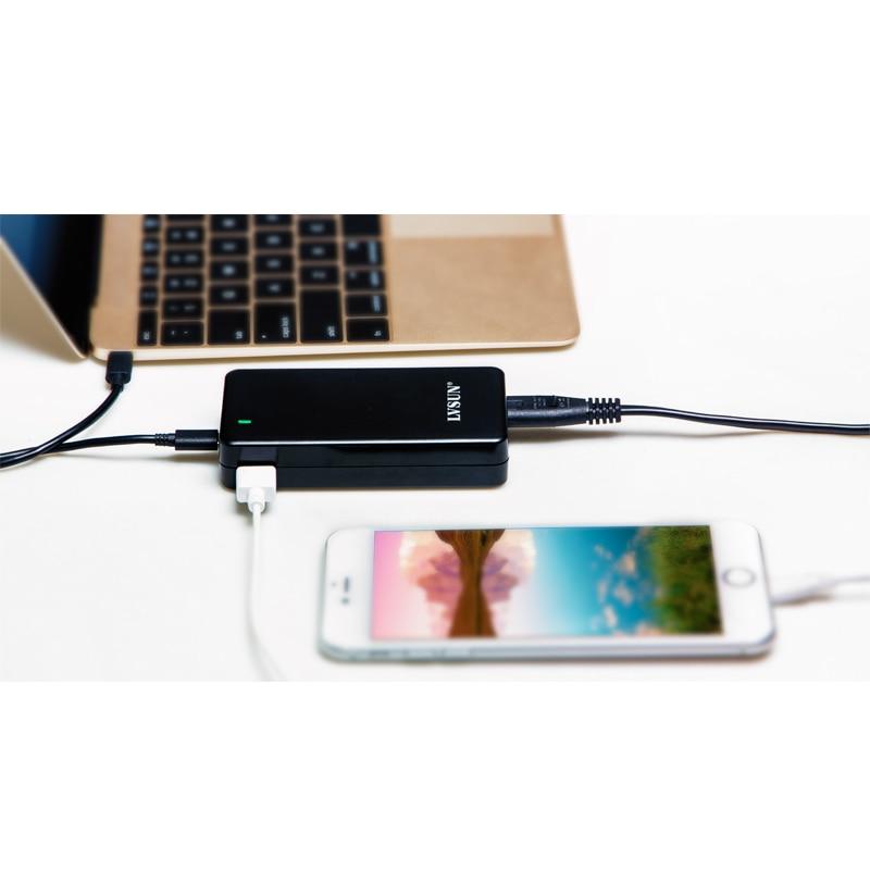 UDOLI 45W Dual USB Type-C Desktop Notebook Laptop adapter Charger for ChromeBook Pixel, Razer Blade