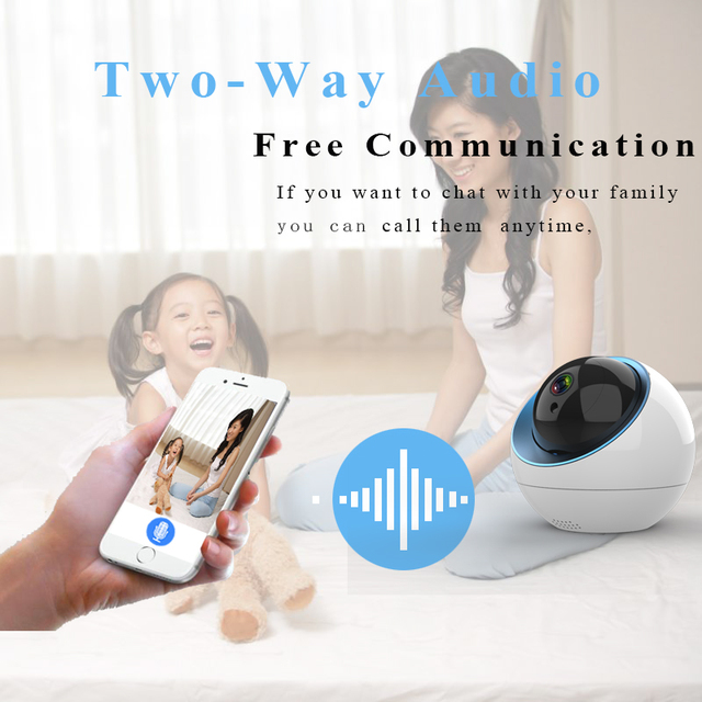 wdskivi New Arrival 2019 Cloud Dome IP Camera 1080P Wireless WiFi Security Camera Surveillance CCTV Auto Tracking Mini Camera