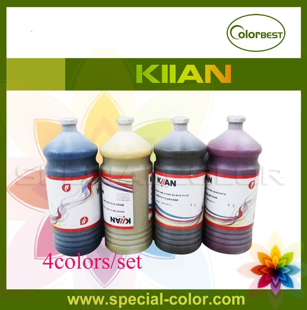 4Colors/Set CMYK Bulk Ink KIIAN Italy Ink in Bottle 1000ml for Epson DX4/DX5/DX7 Printer Ink 4 colors set cmyk roland dx4 solvent printer full ink cartridge with chip