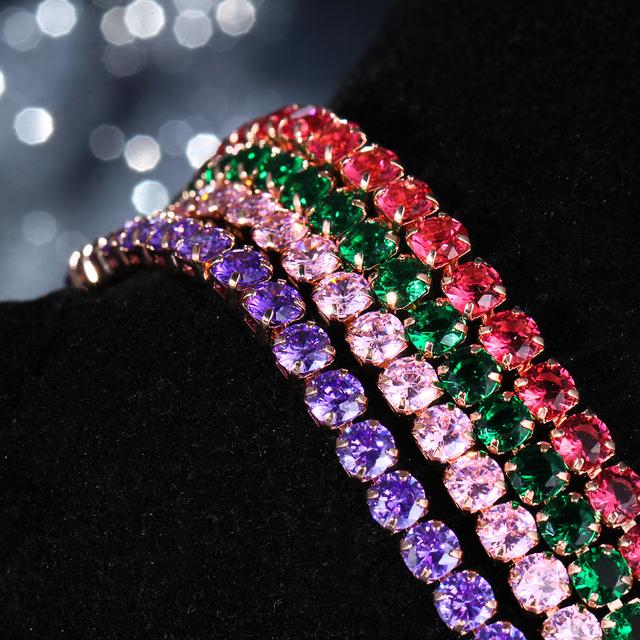 Women's Cubic Zirconia Chain Bracelet