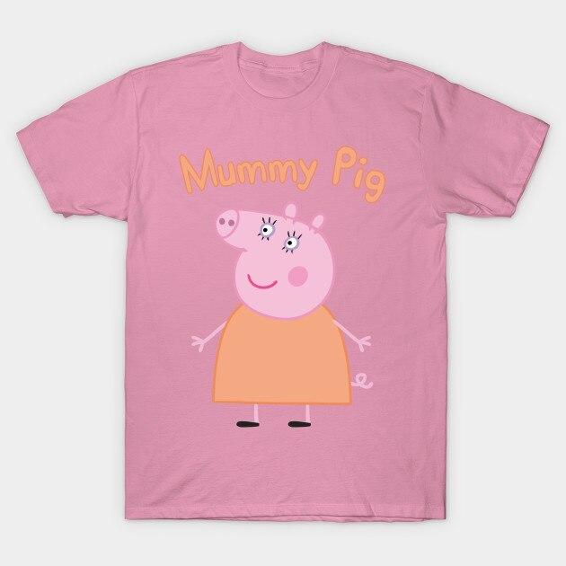 966855660399e 2017 Summer Hot Sale t shirts women 2017 summer mummy pig - Peppa Pig -  T-Shirt Short Fashion Cotton alien off white