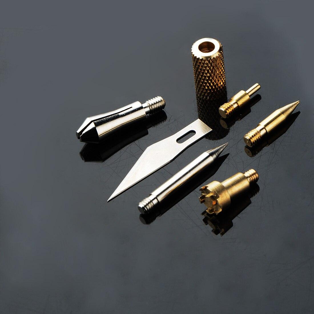 7pcs Wood Burning Pen Set Welding Tips & Stencil Set Soldering Iron Carving Tools For DIY Craft