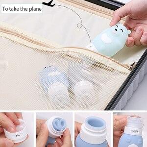 Image 5 - Tragbare Silizium Reise Flaschen Set squeeze flasche Multi zweck container cartoon modellierung flaschen Silikon Machen up Flaschen