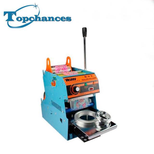 220 V 300 W Elétrica Xícara de Chá Aferidor Automático Máquina de Selagem Bolha 450 Copos/hora