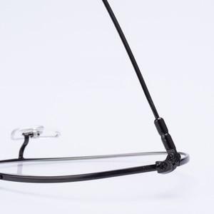 Image 4 - Cubojue Aviation Glasses Frame Men Women Titanium Eyeglasses Men Spectacles Ultra Light Fashion or Prescription Vintage Eyewear