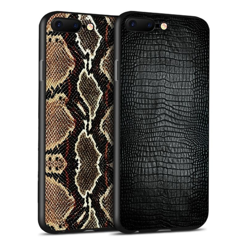 Téléphone Cas Pour iPhone 6 6 s 7 8 Plus X XS XR XS MAX Serpent Peau Zèbre Imprimé Léopard crocodile TPU Silicone Quatrième de Couverture Shell