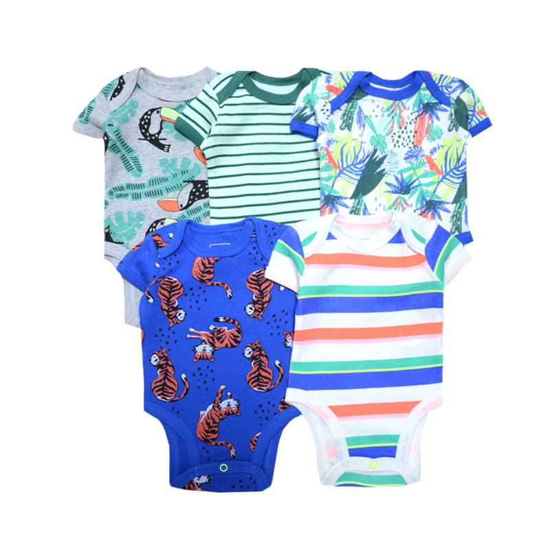 Summer Baby Boy Rompers 2019 Unisex Animal Printed Newborn Baby Girl Clothes