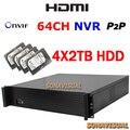 64CH NVR 64CH NVR Gravador De Vídeo Com 8 TB HDD 960 P/720 P 32CH 1080 P IP Camera Recorder HDMI Onvif P2P Para Sistema de Câmera de Segurança
