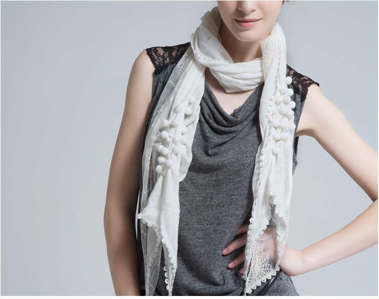 Lace Floral Skinny Scarf | Lightweight Scarves | Up to 60% Off Now