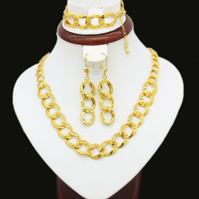 c8c9539b2 Ethiopian Traditional Festival Jewelry Sets Gold Color Necklace/Brecelet/Earring  Habesha African Eritrea Women