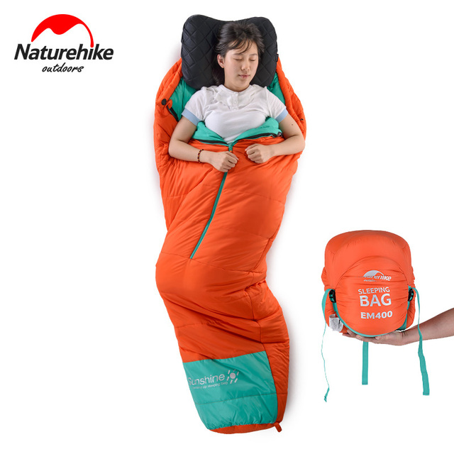 NatureHike Adult Outdoor Mummy Sleeping Bag Winter Warm Camping Hiking Sleep Bag