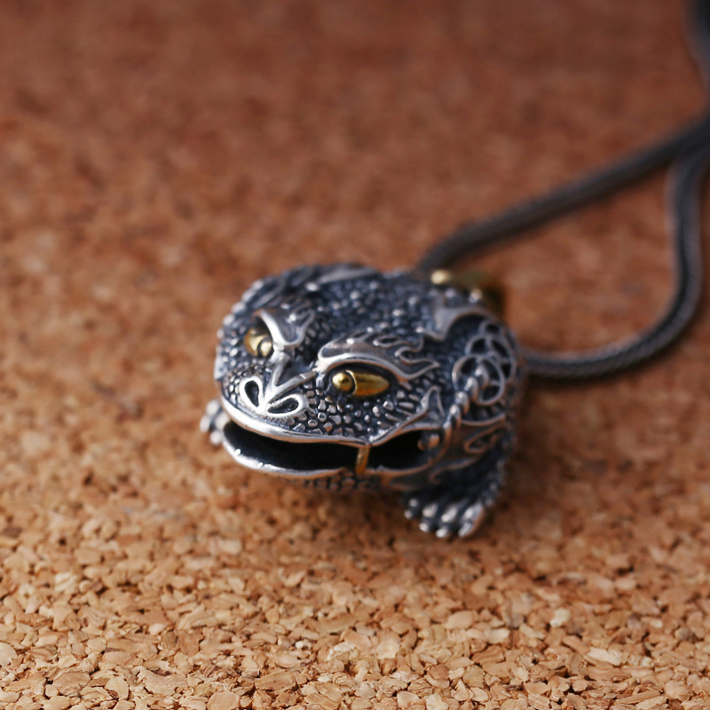 EDC 925 Silver with Brass Knife Beads A Pendant Paracord Outdoor DIY Decorations 925 Silver with