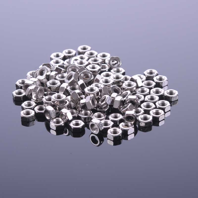 50Pcs/lot M2/M2.5/M3/M4/M5/M6 Nuts  Screw Nut Hexagon Nut Match Copper Cylinder for Robots Good Quality CPC160 m