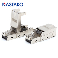 Toolfree RJ45 Cat6A Connector Shielded modular Plug Toolless rj45 keystone jack connector for Cat6 Cat6A Solid Network Cable