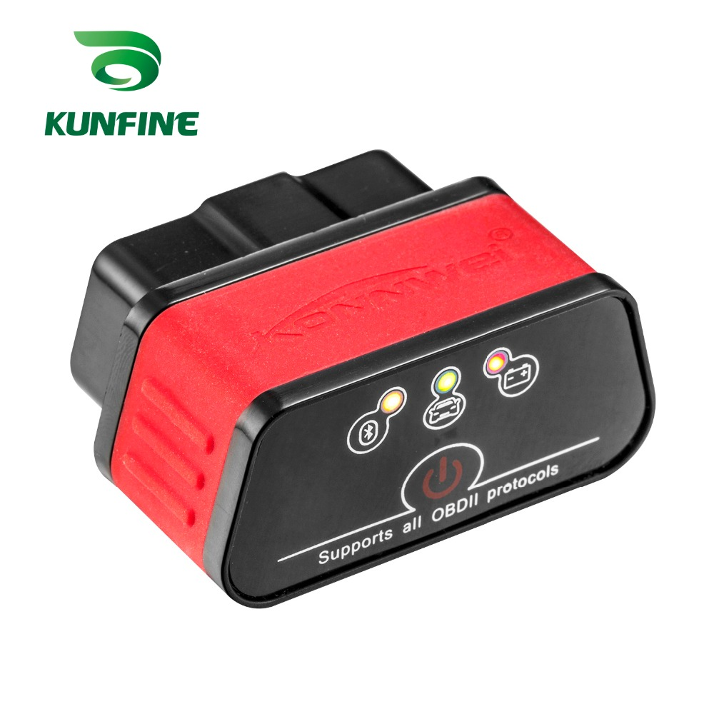 KUNFINE KW903 Bluetooth 3.0 OBD2 Scanner Code Reader Erase Fault Errors OBD 2 ELM 327 ELM327 for Android Auto Automotive Tool