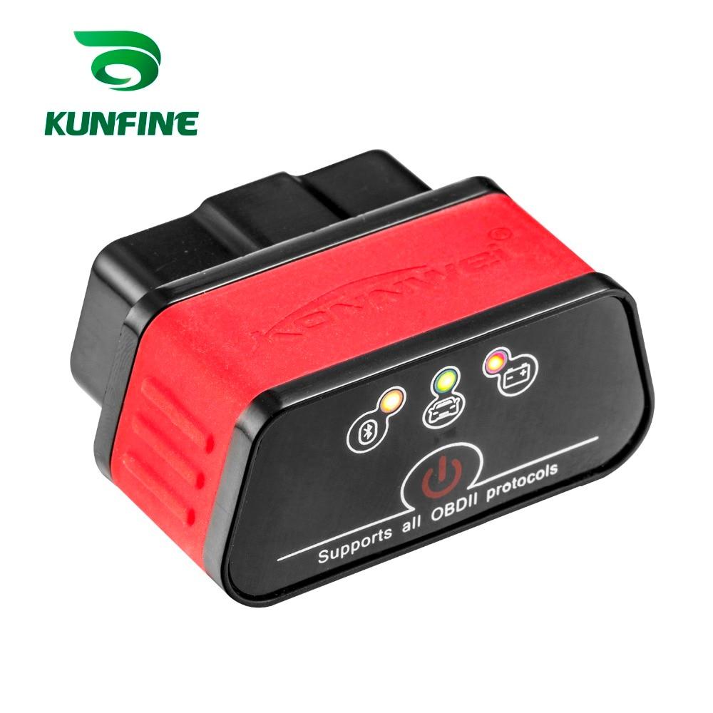 KUNFINE KW903 Bluetooth 3.0 OBD2 Scanner Code Reader Erase Fault Errors OBD 2 ELM 327 ELM327 for Android Auto Automotive Tool