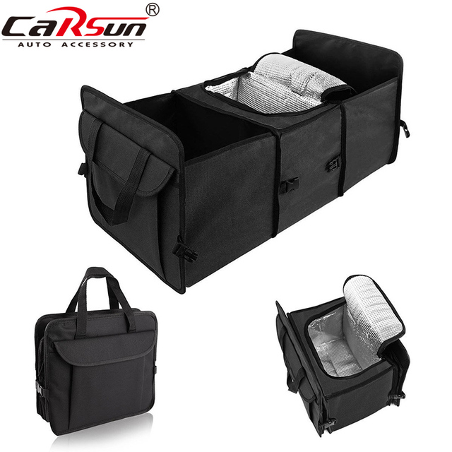Car Collapsible Trunk Organizer Insulated Food Storage Container Basket Stowing Tidying Bags Camping Travel Cooler Bag