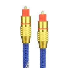 Adaptador De Cabo de Áudio Banhado A Ouro Cabo SPDIF Toslink Digital Óptica para XBOX DVD Blueray PS3 1 m 1.5 m 2 m m 5 3 m TosLink Cabo