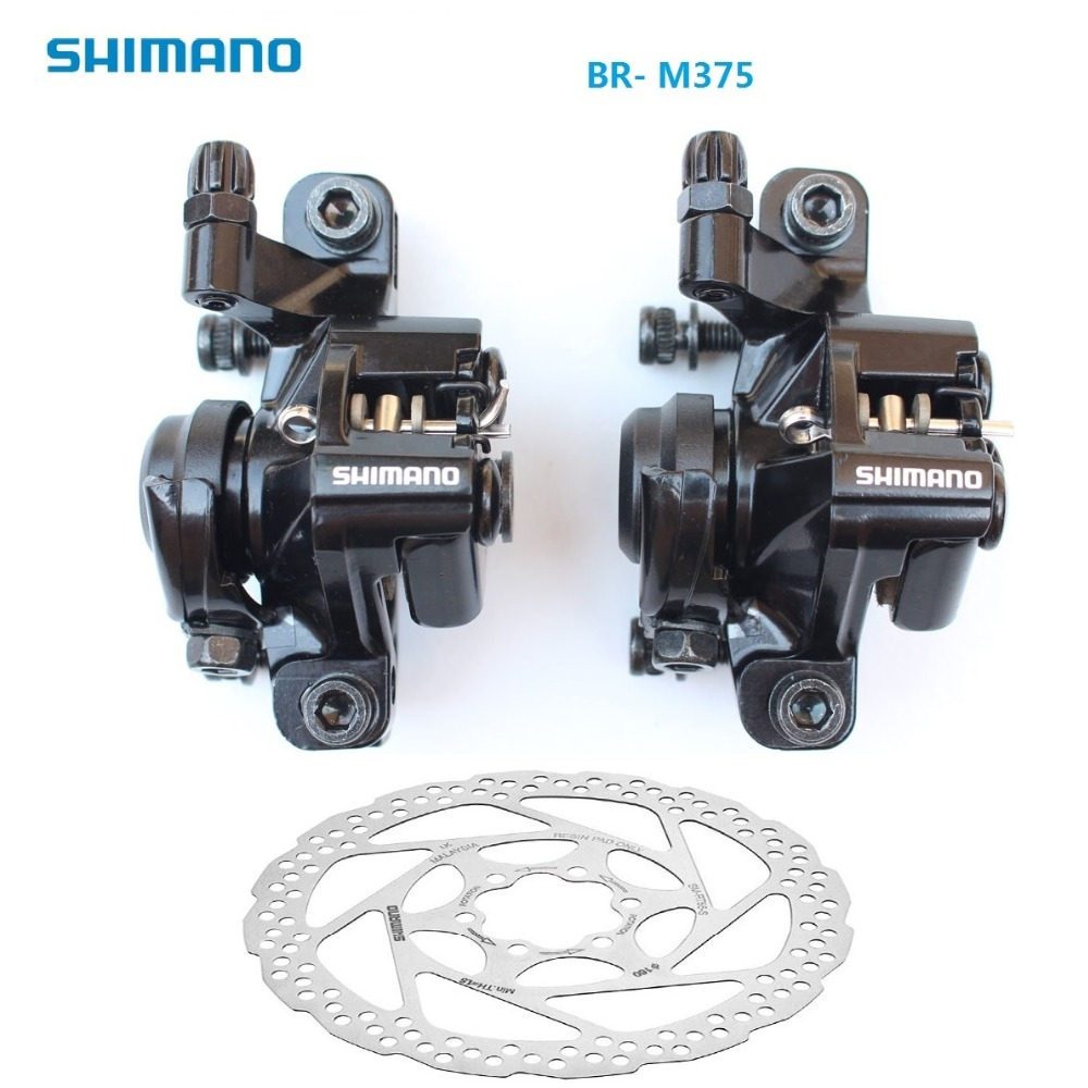Shimano BR-M375 Mechanical Disc Brake Calipers for w// Resin Pads G3 HS1 Optional